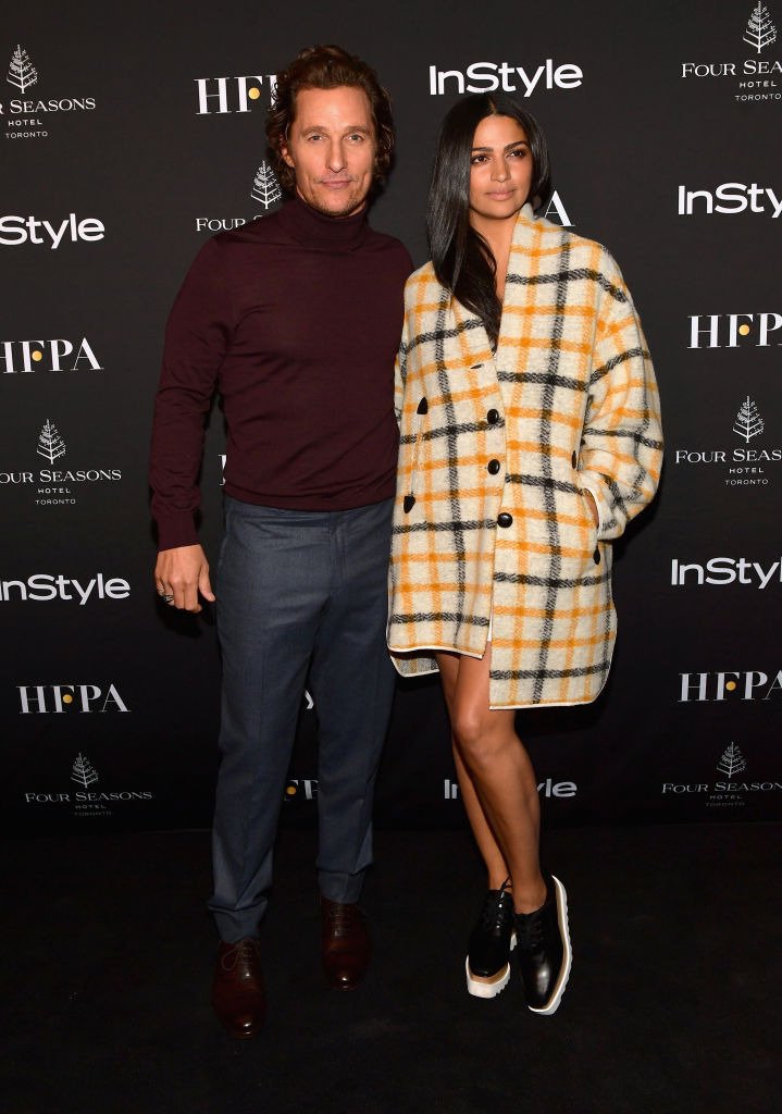 Matthew McConaughey and Camila Alves attend 2018 HFPA and InStyle's TIFF Celebration at the Four Seasons Hotel on September 8, 2018 in Toronto, Canada. (Photo by Matt Winkelmeyer/Getty Images for InStyle)
