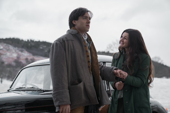 Richard Rankin (Roger MacKenzie), Iona Claire (Fiona) - Outlander Episode 407 (Source: Starz)