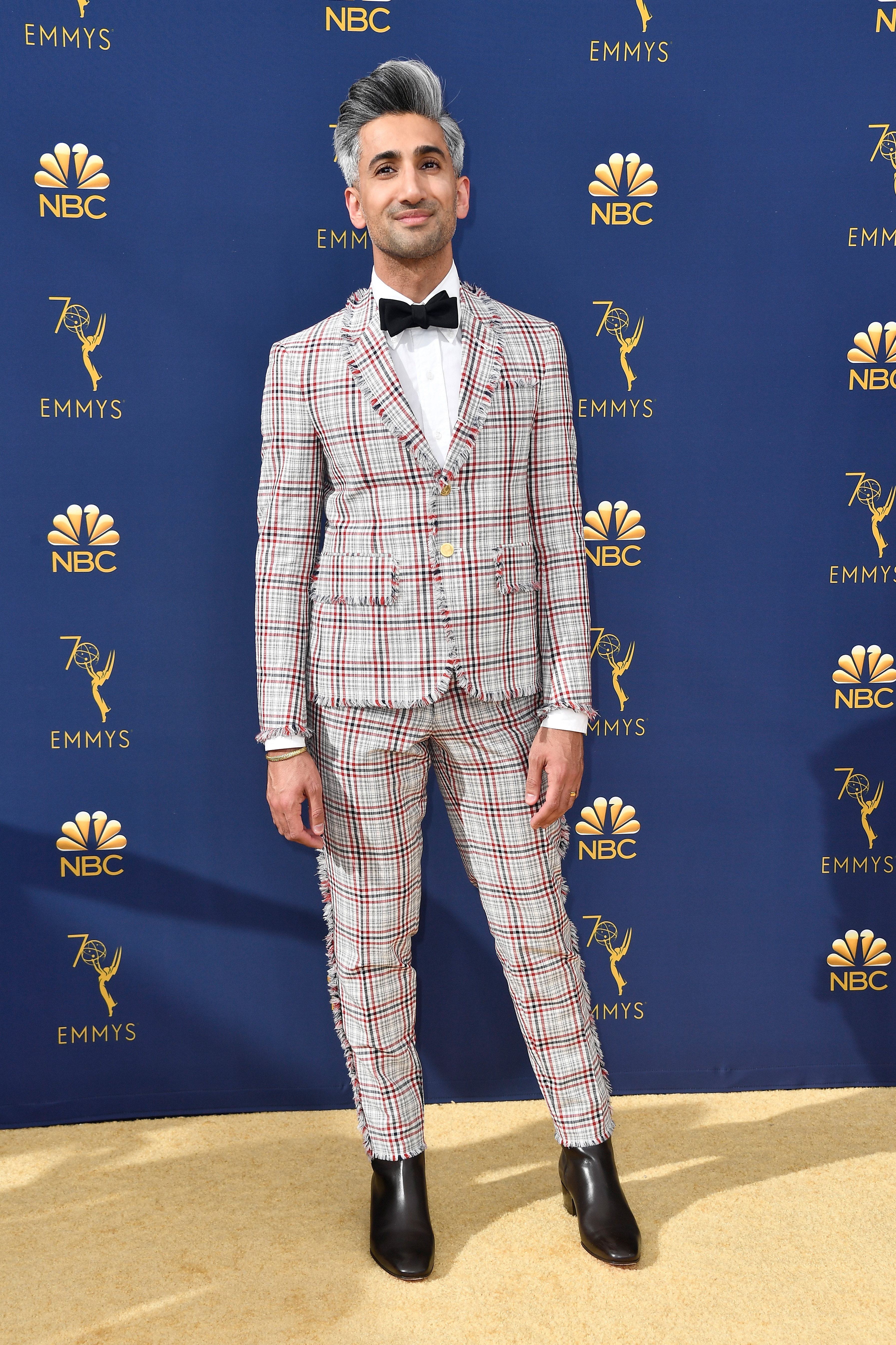 Tan France attends the 70th Emmy Awards at Microsoft Theater on September 17, 2018 in Los Angeles, California. (Getty Images)
