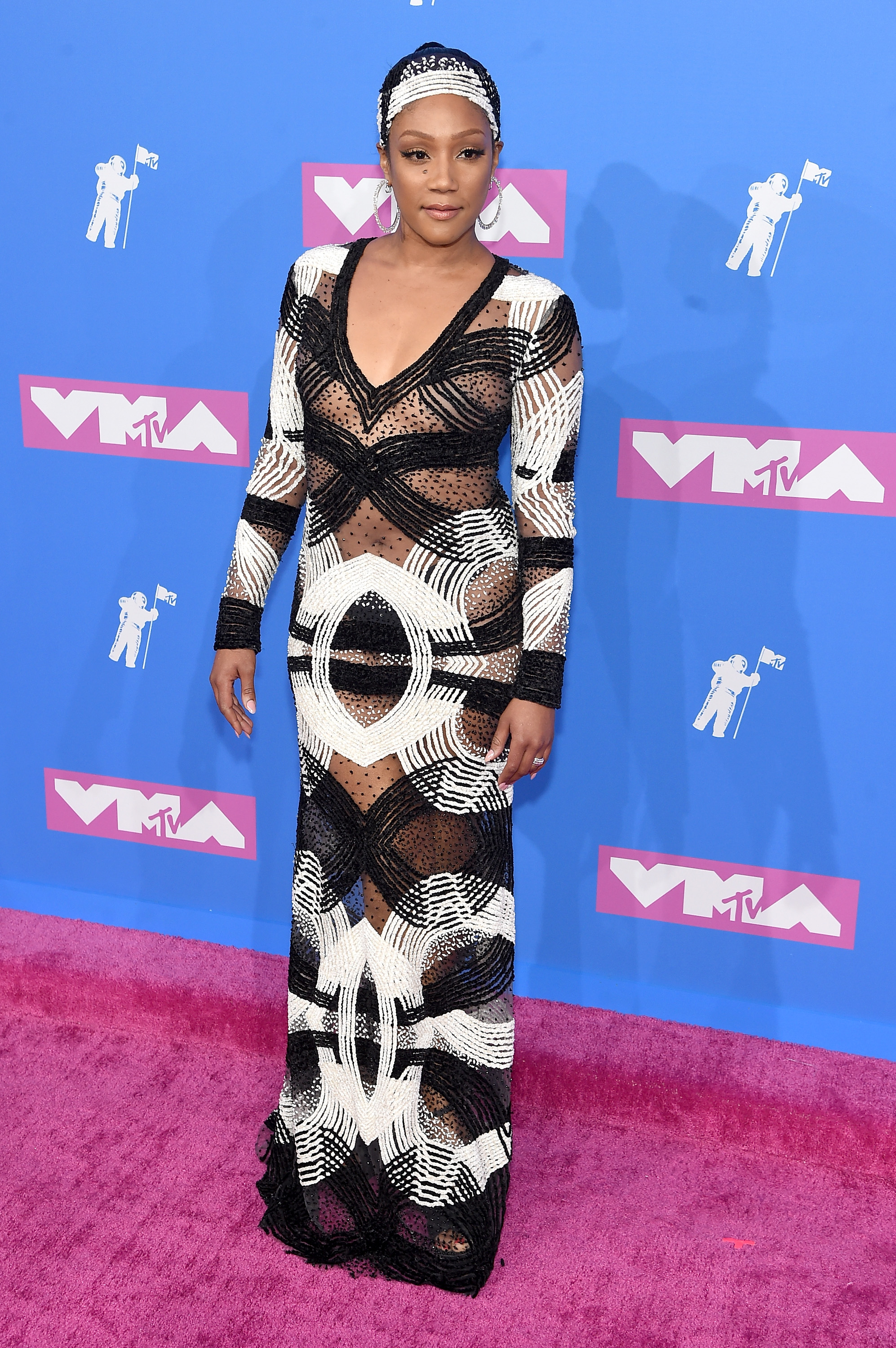 Tiffany Haddish attends the 2018 MTV Video Music Awards at Radio City Music Hall on August 20, 2018 in New York City.