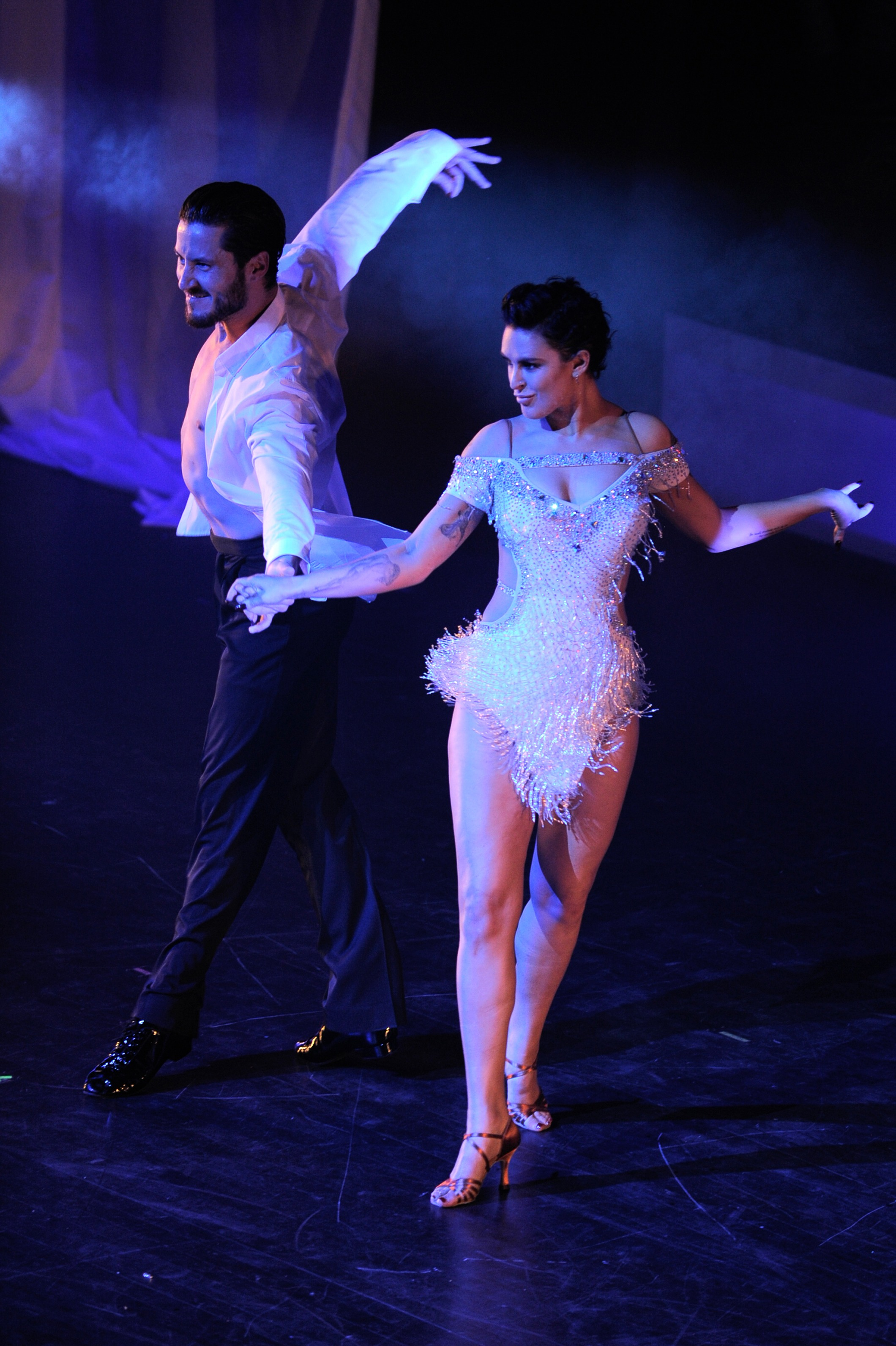 Valentin Chmerkovskiy and Rumer Willis perform onstage during SWAY: A Dance Trilogy at Gusman Center for the Performing Arts on December 5, 2015 in Miami, Florida.