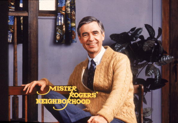 Portrait of American educator and television personality Fred Rogers (1928 - 2003) of the television series 'Mister Rogers' Neighborhood,' circa 1980s. (Photo by PBS Television/Courtesy of Getty Images)
