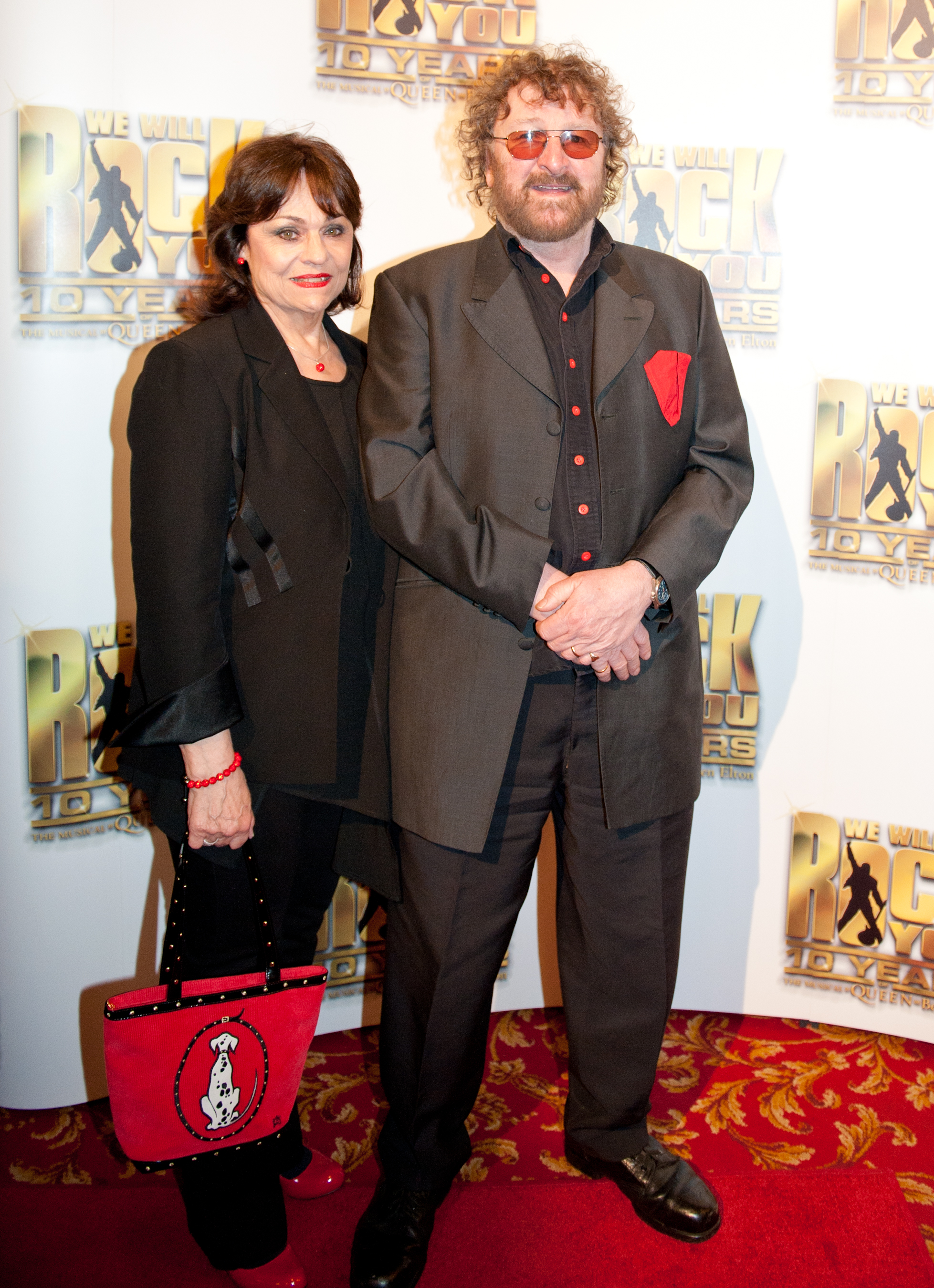 Chas Hodges attends the We Will Rock You 10 Year Anniversary Celebration performance at The Dominion Theatre on May 14, 2012 in London, England.