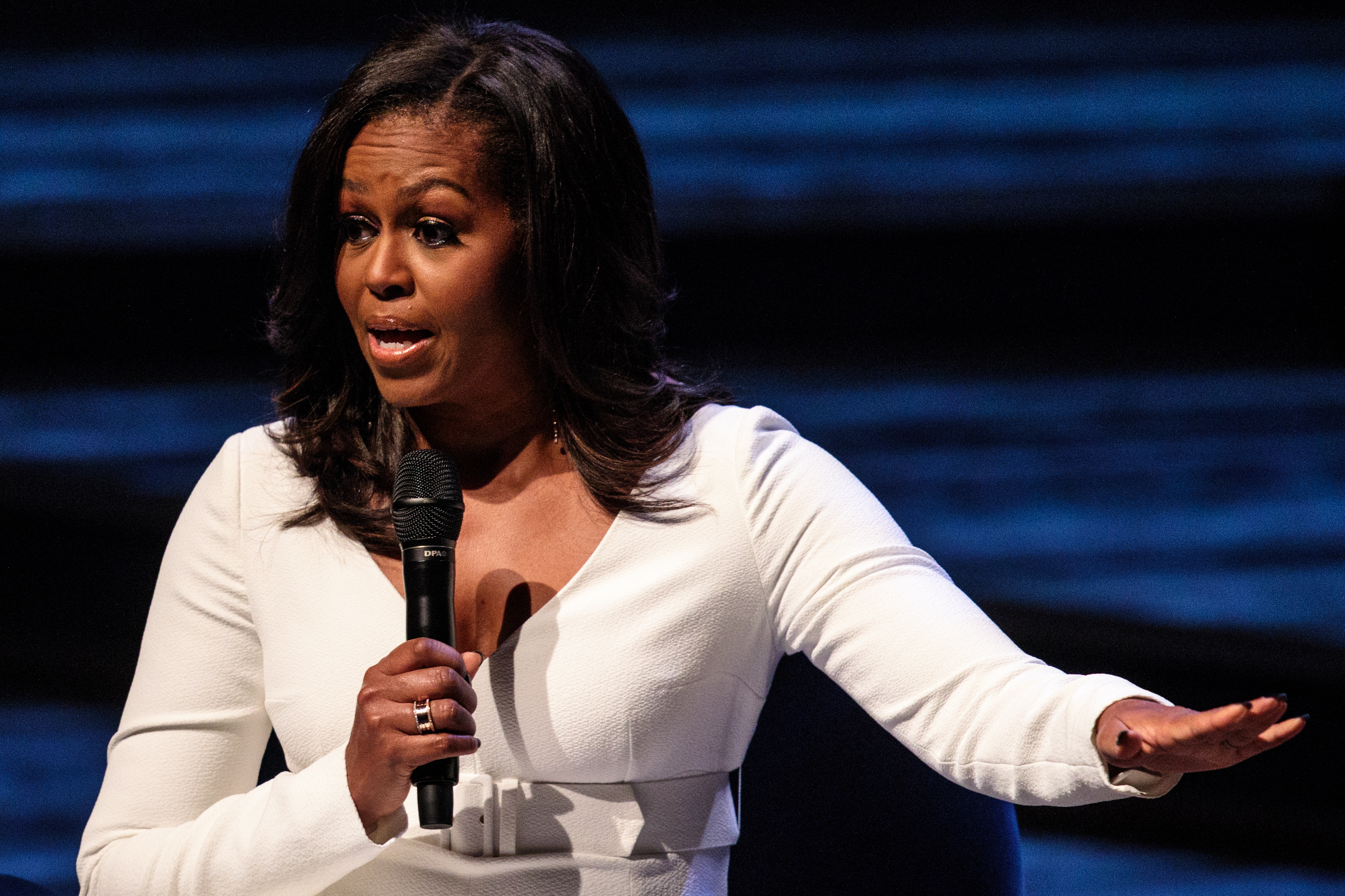 Former U.S. First Lady Michelle Obama speaks at The Royal Festival Hall on December 03, 2018 in London, England. (Getty)
