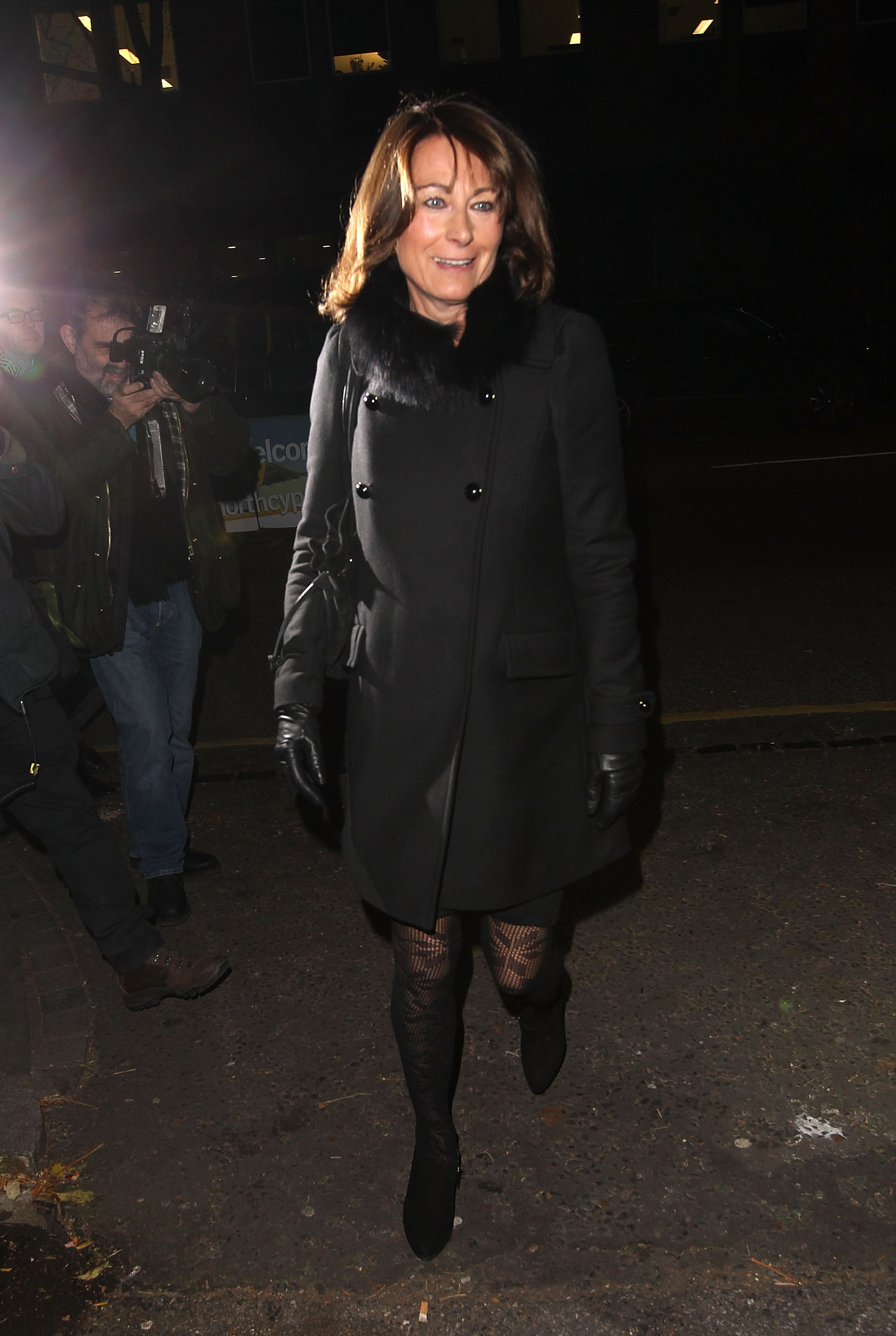 Carole Middleton attends a Christmas carol concert in aid of the Henry van Strauzenbee memorial fund at St Luke's Church on December 4, 2013 in London, England. (Getty Images)