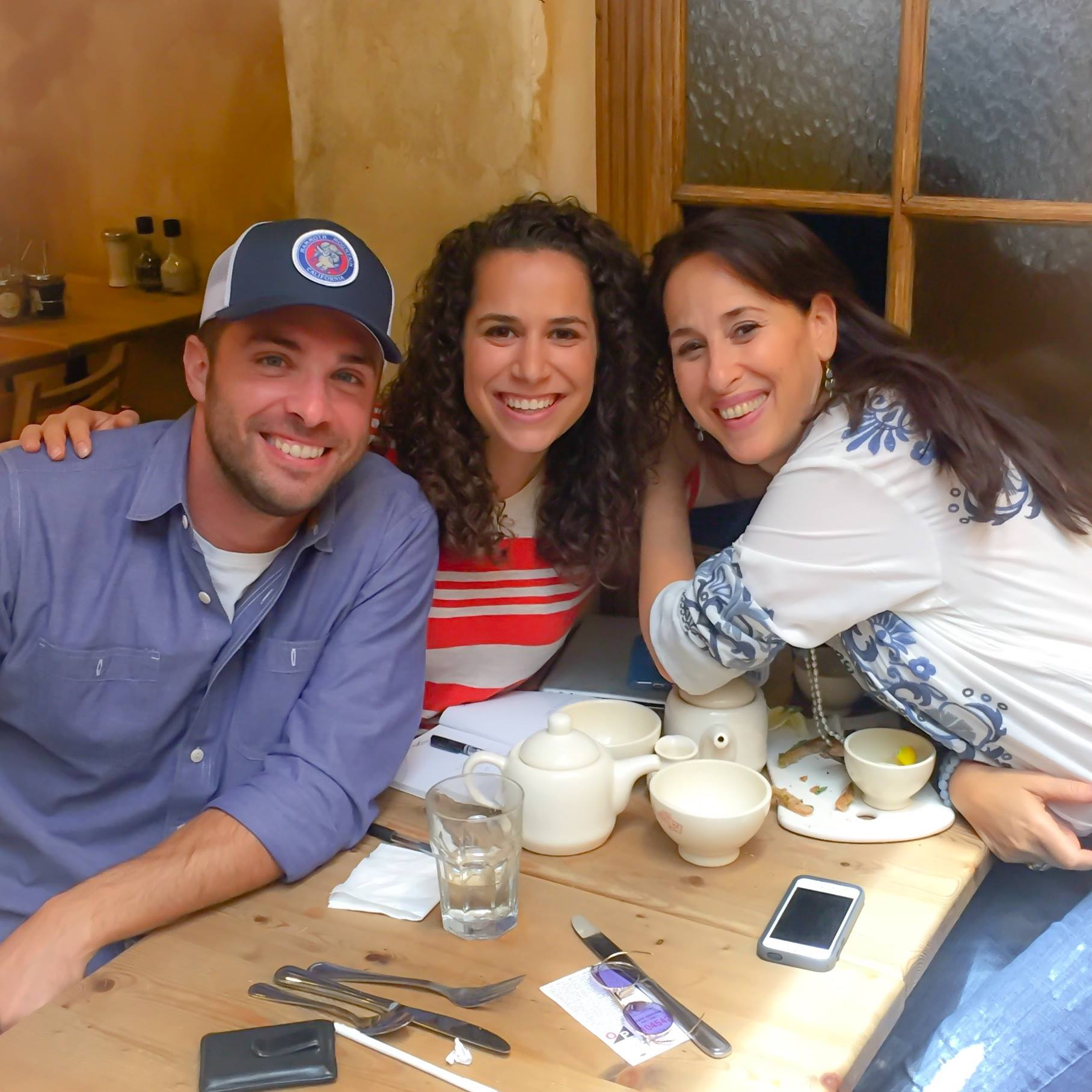 Co-creators/stars of 'Holiday Hostage,' David and Abby with on-screen mom Maggie Wheeler (Facebook)