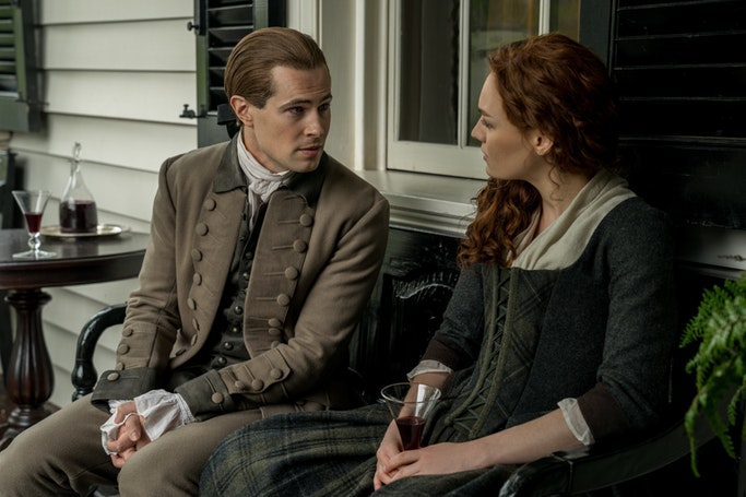 David Berry (Lord John Grey), Sophie Skelton (Brianna Randall Fraser) - Outlander Episode 411 (Starz)