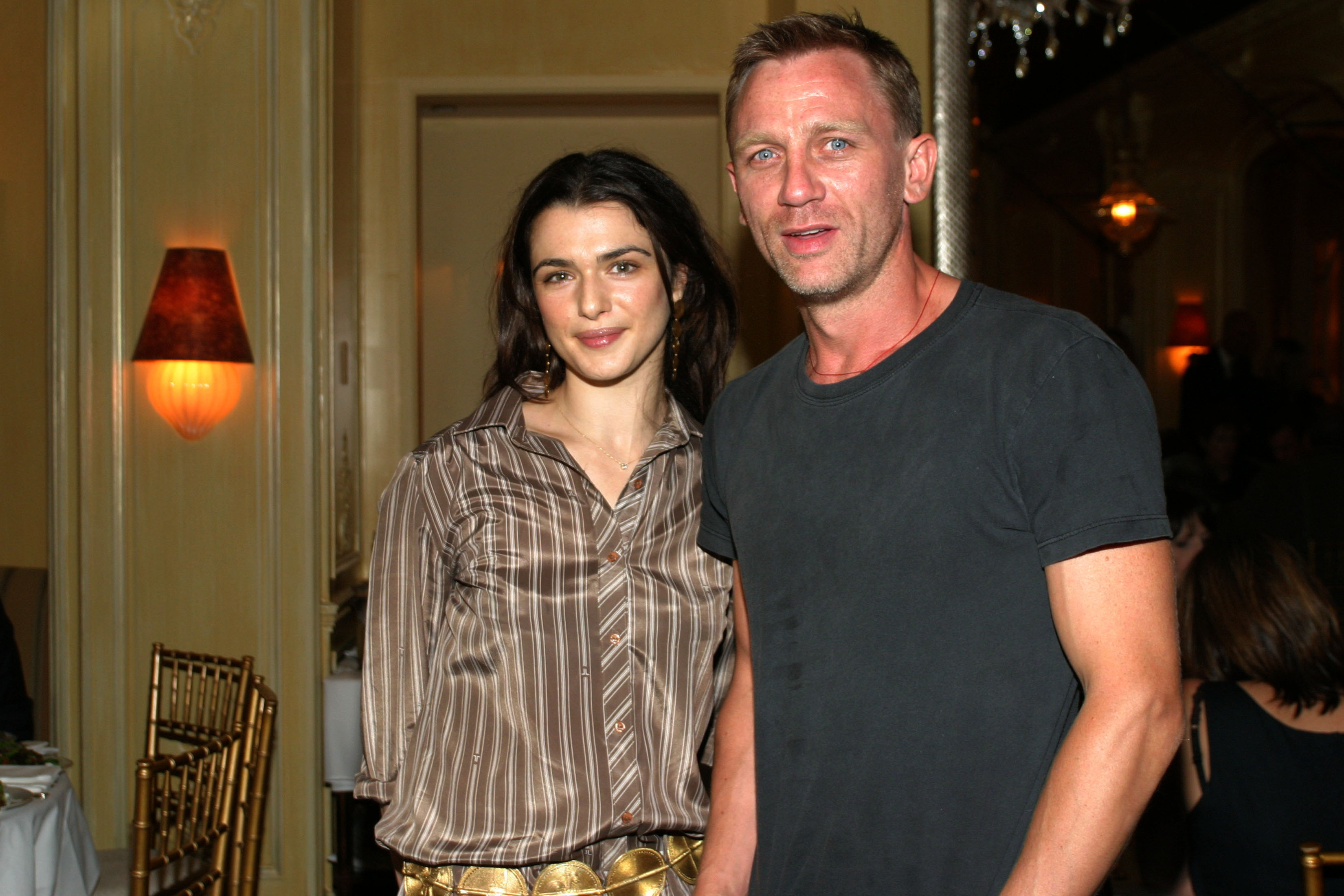 Rachel Weisz and Daniel Craig attend a private screening of 'Enduring Love' at the MGM screening room on September 13, 2004, in New York City. (Getty)
