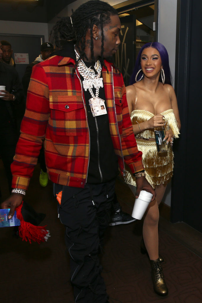 Offset and Cardi B walk backstage during 102.7 KIIS FM's Jingle Ball 2018 Presented by Capital One at The Forum on November 30, 2018 in Inglewood, California. (Getty Images)