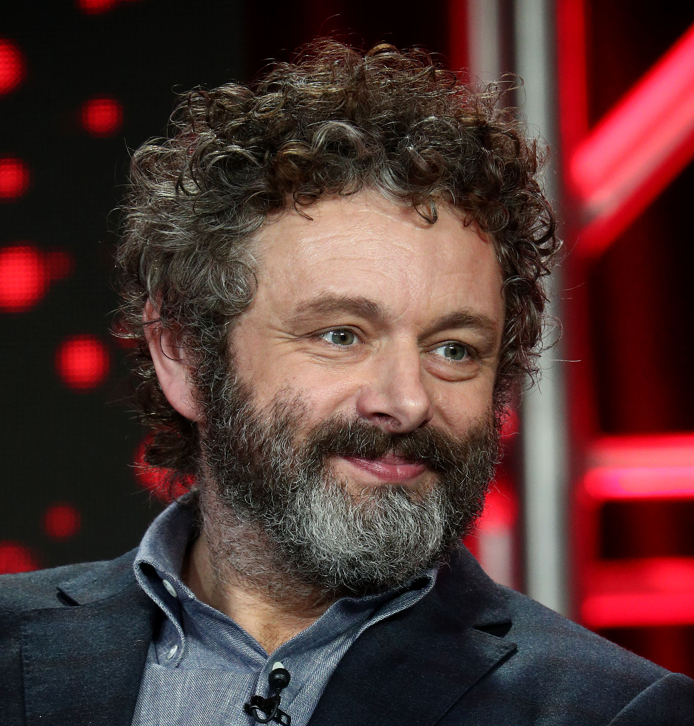Michael Sheen of the television show 'The Good Fight' speaks during the CBS segment of the 2019 Winter Television Critics Association Press Tour at The Langham Huntington, Pasadena on January 30, 2019 in Pasadena, California. (Getty Images)