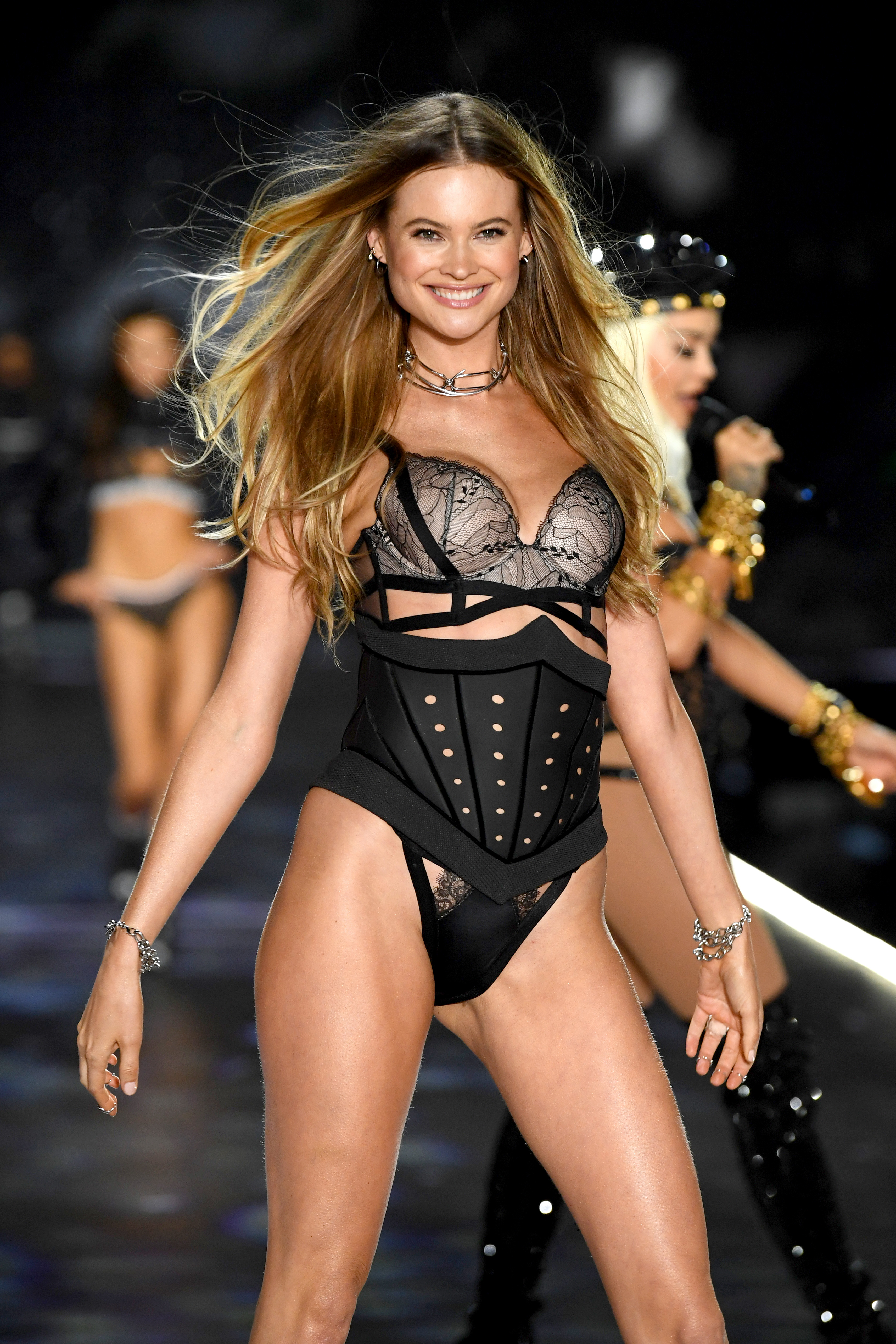 Behati Prinsloo walks the runway during the 2018 Victoria's Secret Fashion Show at Pier 94 on November 8, 2018, in New York City. (Getty Images)