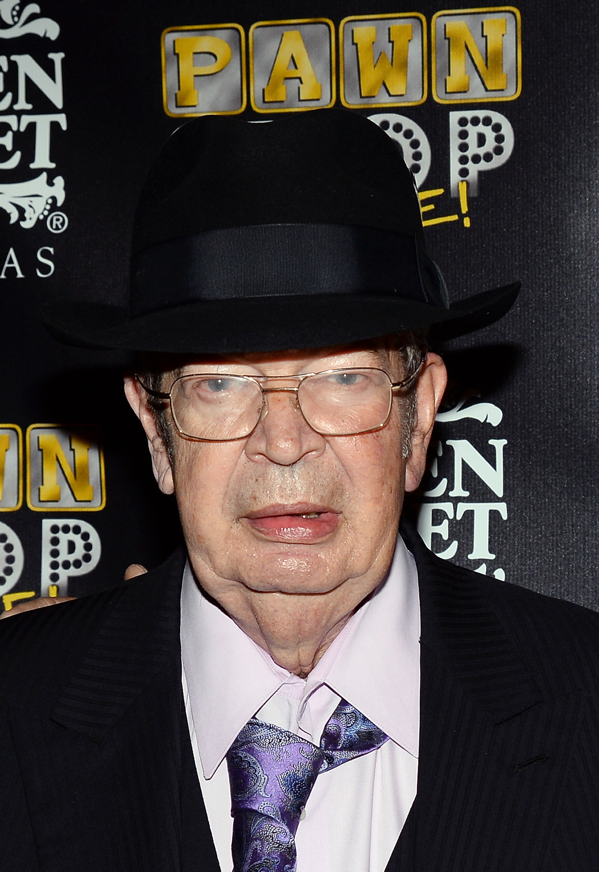Richard 'The Old Man' Harrison arrives at the opening of 'Pawn Shop Live!,' a parody of History's 'Pawn Stars' television series, at the Golden Nugget Hotel & Casino on January 30, 2014 in Las Vegas, Nevada.