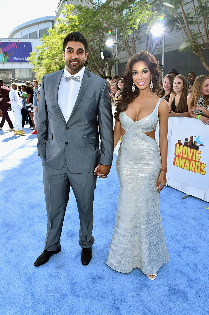 Real estate agent Simon Saran and TV personality Farrah Abraham attend The 2015 MTV Movie Awards at Nokia Theatre L.A. Live on April 12, 2015, in Los Angeles, California. (Getty Images)