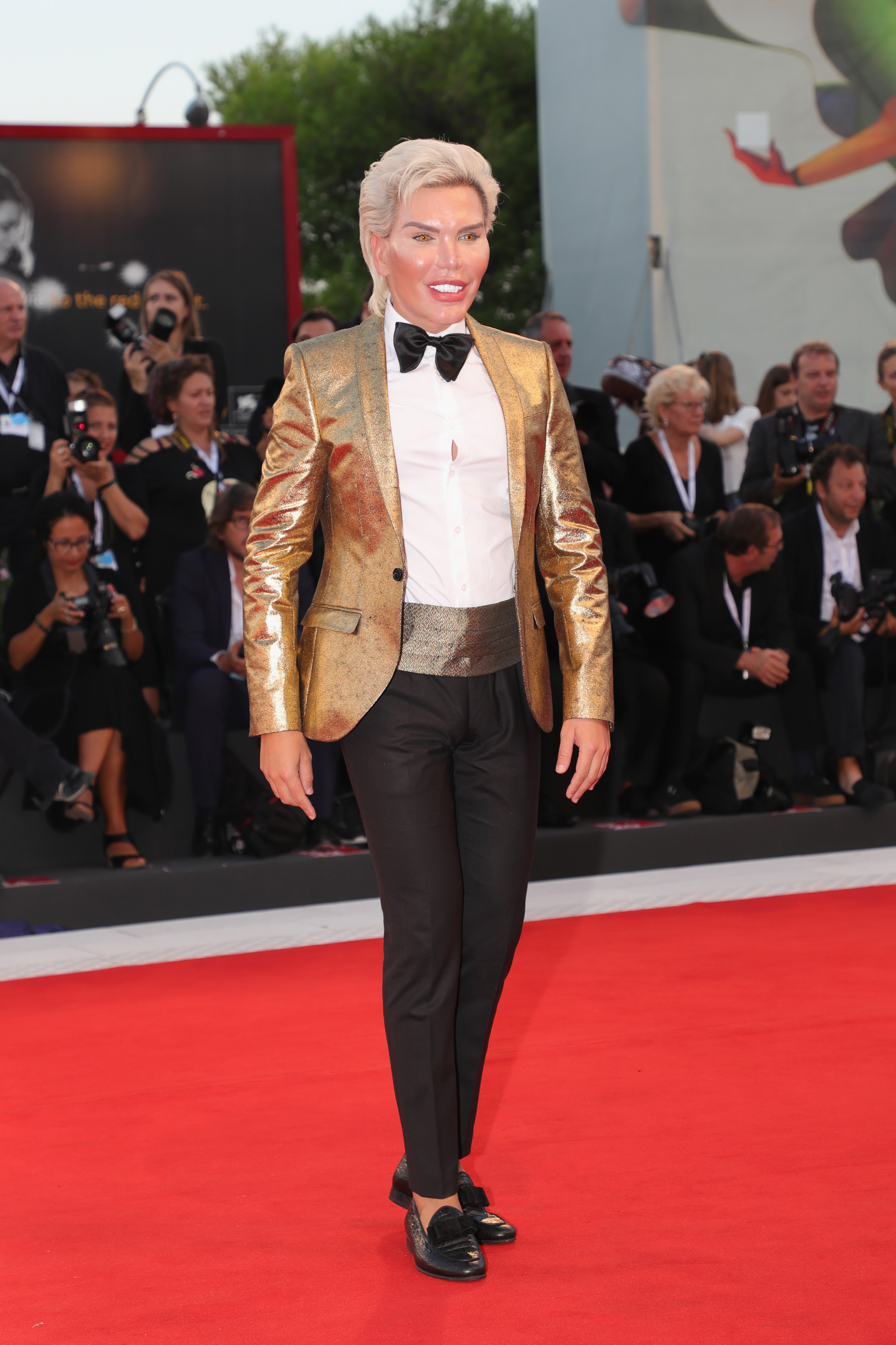 Rodrigo Alves walks the red carpet ahead of the '22 July' screening during the 75th Venice Film Festival at Sala Grande on September 5, 2018, in Venice, Italy. (Getty Images)