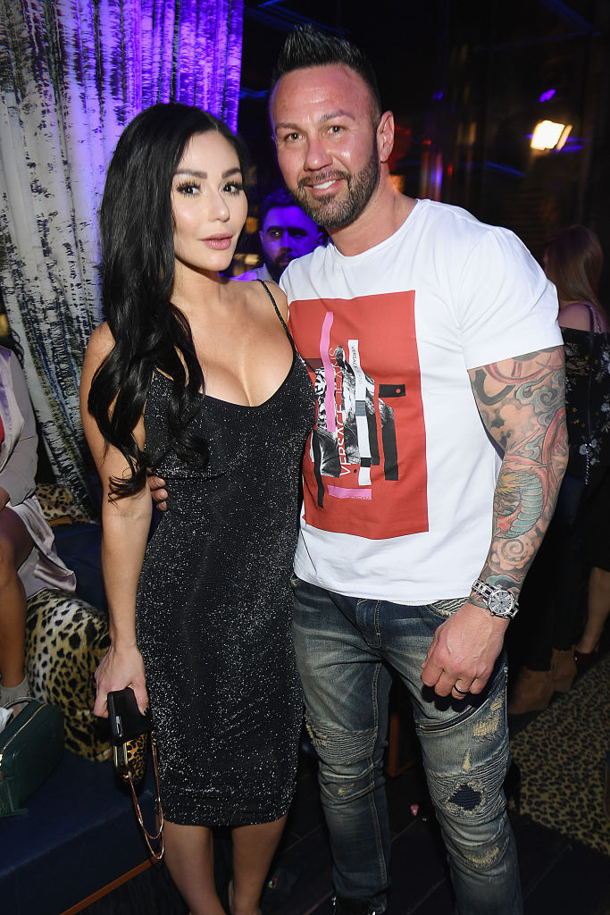 Jenni 'JWoww' Farley and Roger Mathews (Source: Getty Images)