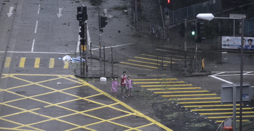 Over 200 people have been injured because of the typhoon (Source: YouTube)