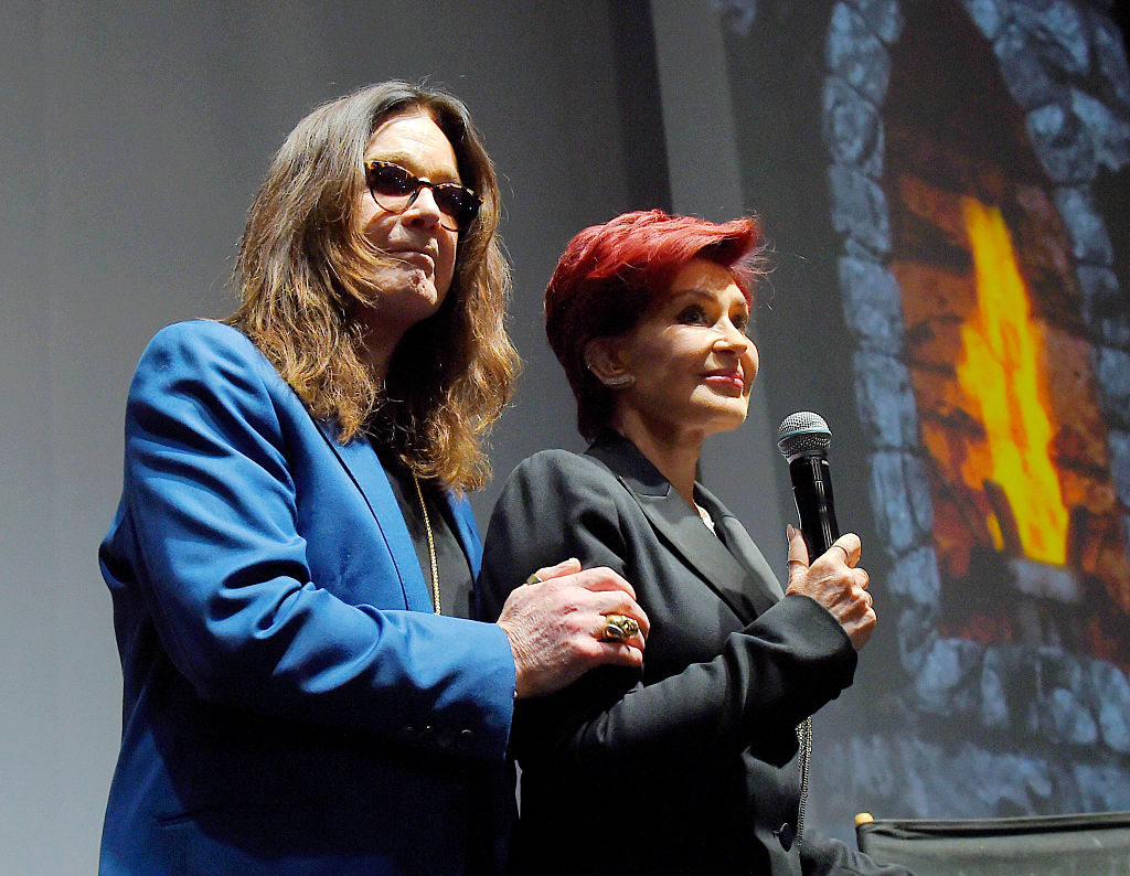 Singer Ozzy Osbourne of Black Sabbath and wife/manager Sharon Osbourne attend the Ozzy Osbourne and Corey Taylor special announcement at the Hollywood Palladium on May 12, 2016, in Hollywood, California (Getty Images)