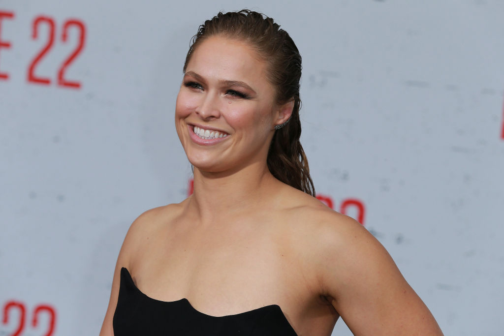 Ronda Rousey attends the Premiere Of STX Films' 'Mile 22' at Westwood Village Theatre on August 9, 2018, in Westwood, California. (Getty)