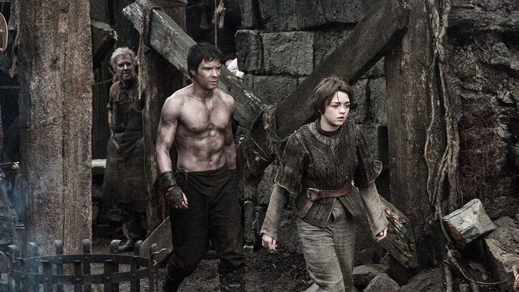 Gendry and Arya Stark in 'Game of Thrones'. Source: IMDB