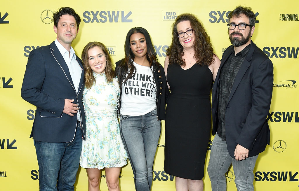 (L-R) Producer Houston King, actresses Haley Lu Richardson and Regina Hall, Support the Girls Founder Dana Marlowe, and director Andrew Bujalski attend the 'Support The Girls' premiere during the 2018 SXSW Conference and Festivals at the ZACH Theatre on March 9, 2018 in Austin, Texas. (Photo by Michael Loccisano/Getty Images for SXSW)