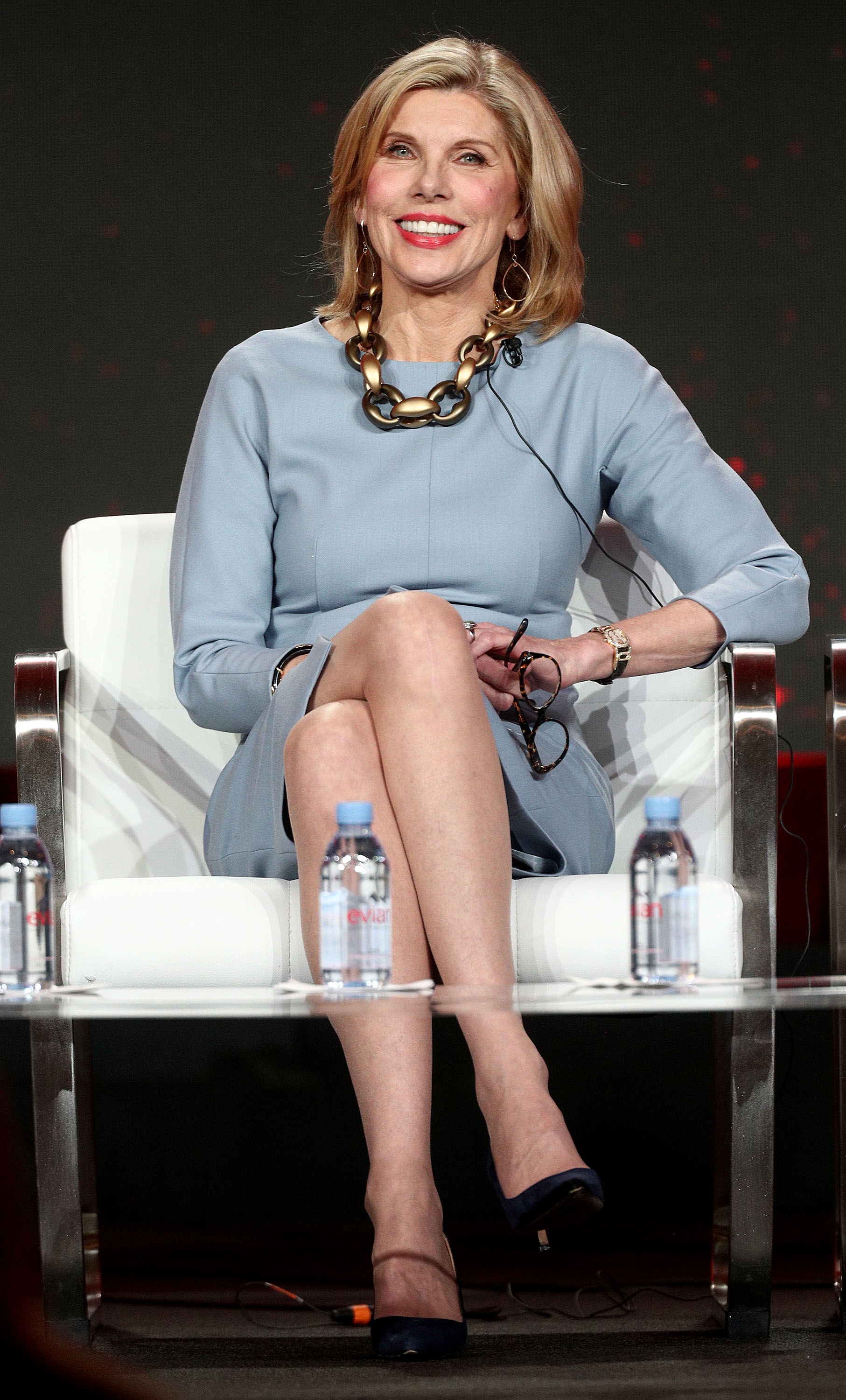 Christine Baranski of the television show 'The Good Fight' speaks during the CBS segment of the 2019 Winter Television Critics Association Press Tour at The Langham Huntington, Pasadena on January 30, 2019 in Pasadena, California (Getty Images)