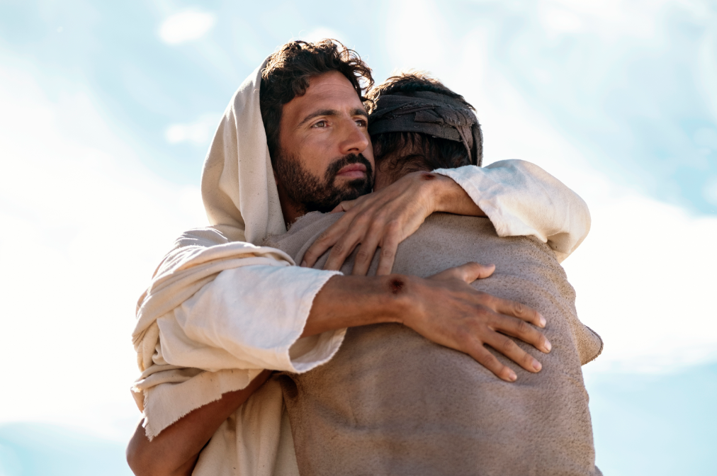 The divine story of the birth of Jesus and the life he lived is one of the most significant turning points in history, especially after it became the bedrock of modern Western civilization. (Photo: Greg Barnett as Jesus; Credit: Jaime Yandolino/A+E Networks)