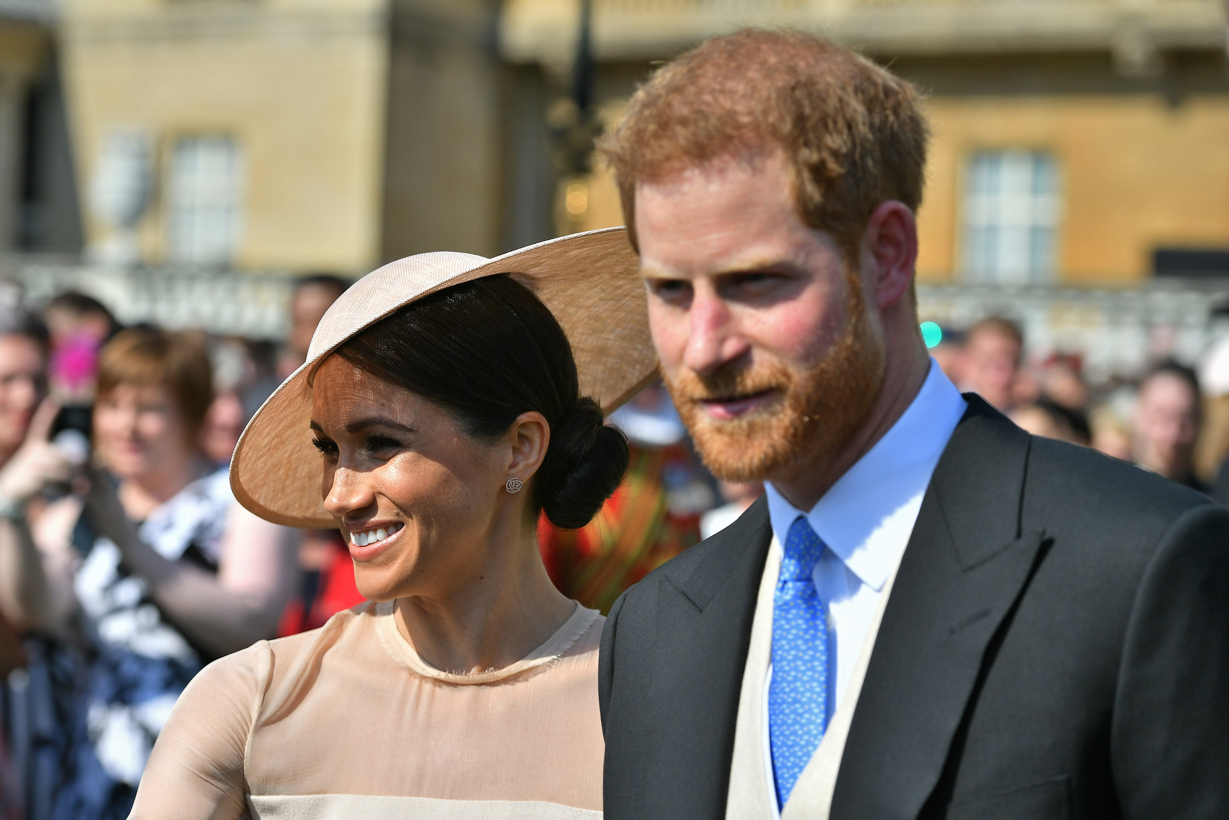 Prince Harry, Duke of Sussex and Meghan, Duchess of Sussex attend The Prince of Wales' 70th Birthday Patronage Celebration held at Buckingham Palace on May 22, 2018 in London, England (Getty Images)