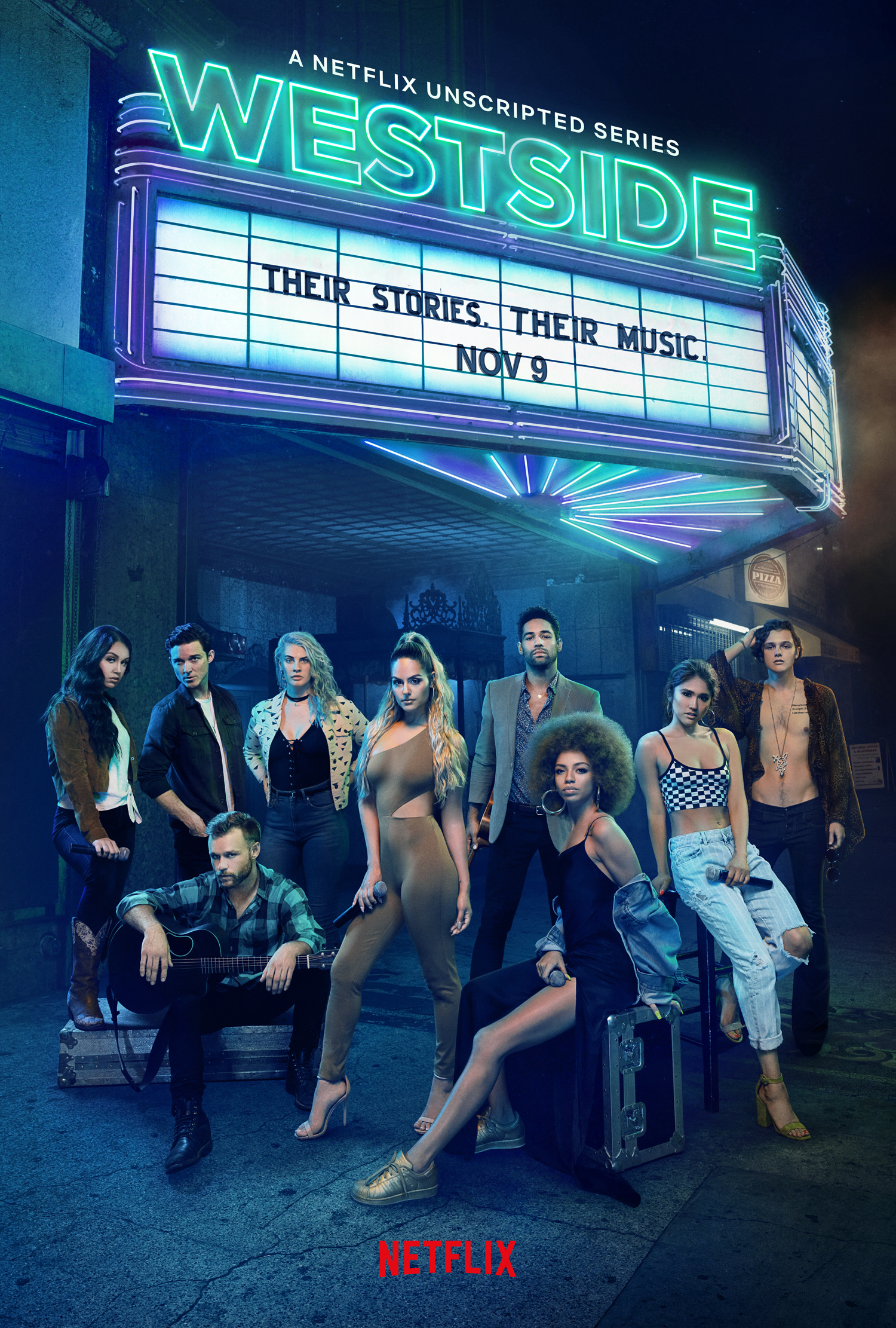 Poster for Netflix's musical reality TV drama 'Westside' (Photo Credit: Netflix)