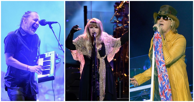 L-R: Radiohead, Stevie Nicks and Def Leppard are among the honorees at the 2019 Rock and Roll Hall of Fame. (Photos: Getty Images)