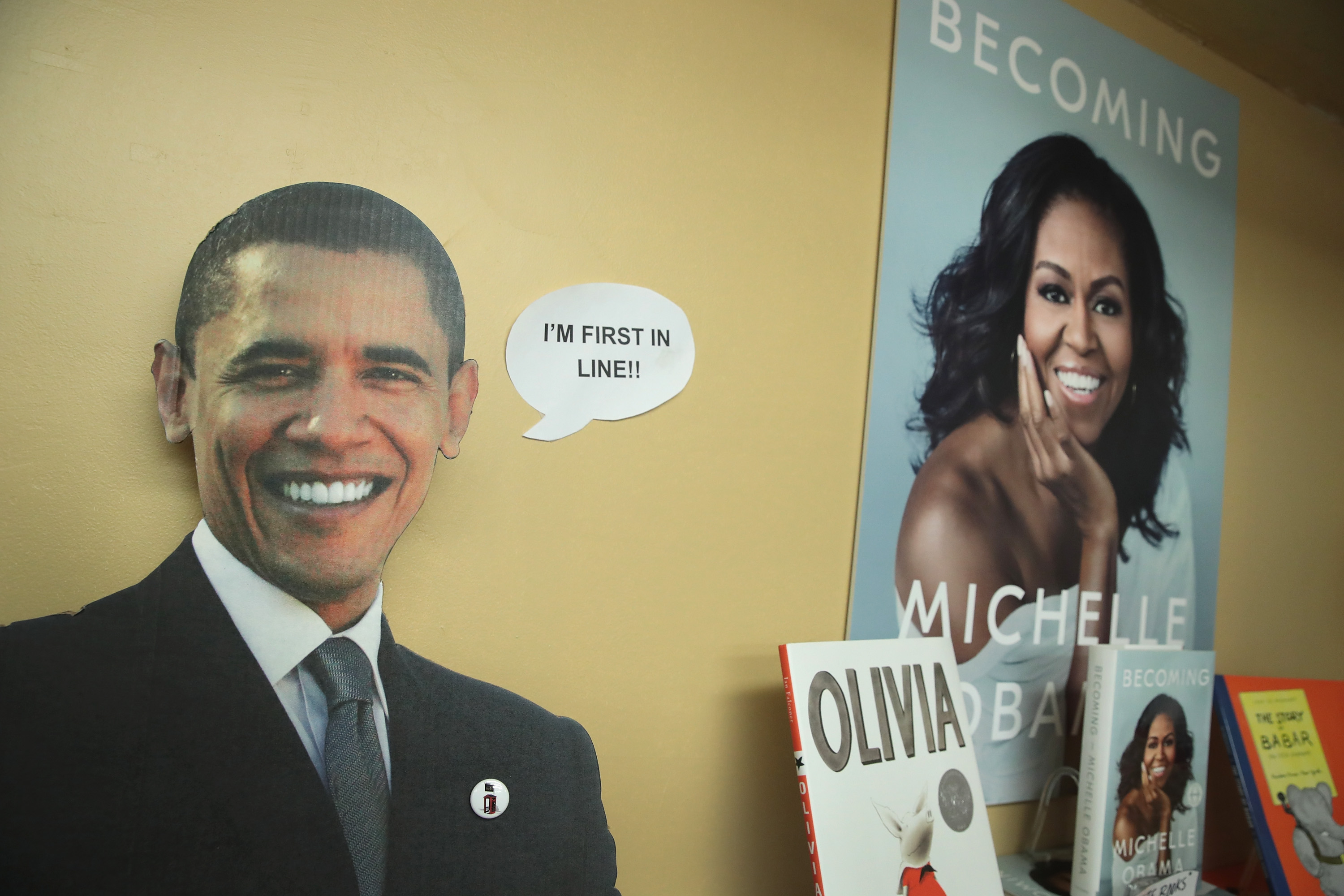 ' Becoming', a book by former first lady Michelle Obama, is displayed at the 57th Street Books bookstore on November 13, 2018, in Chicago, Illinois. (Getty)