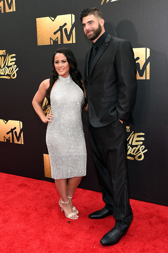TV personality Jenelle Evans and David Eason attend the 2016 MTV Movie Awards at Warner Bros. Studios on April 9, 2016, in Burbank, California. (Photo by Larry Busacca/Getty Images for MTV)