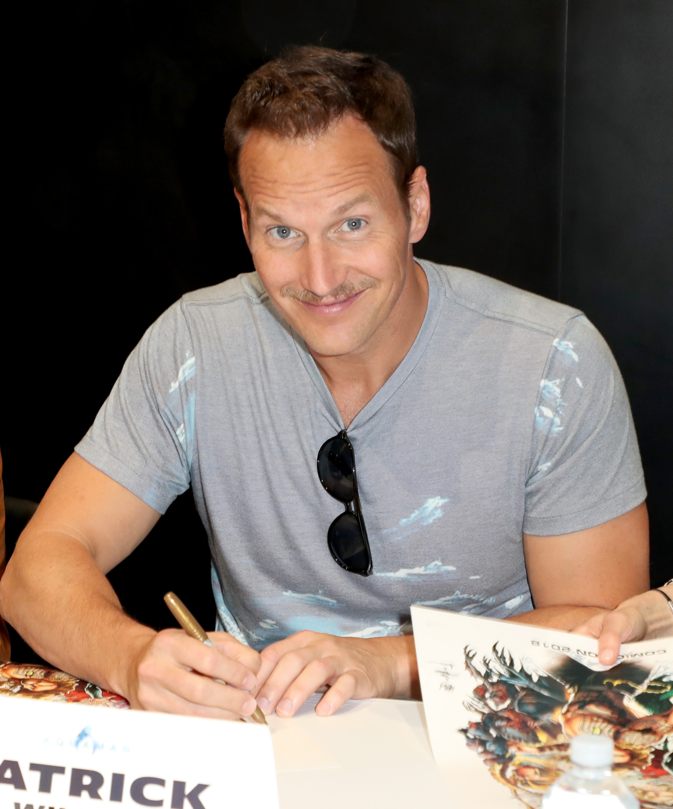 Patrick Wilson attends DC Entertainment's Warner Bros. Pictures 'Aquaman' Autograph Signing during Comic-Con International 2018 at San Diego Convention Center on July 21, 2018 in San Diego, California.