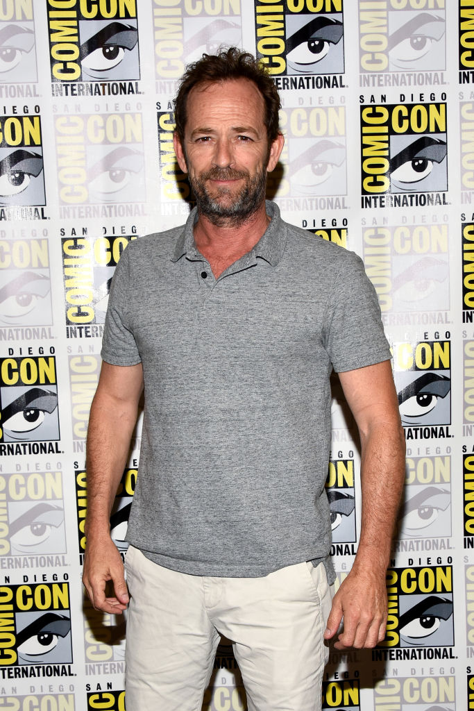 Luke Perry attends the 'Riverdale' Press Line during Comic-Con International 2018 at Hilton Bayfront on July 21, 2018, in San Diego, California. (Photo by Araya Diaz/Getty Images)