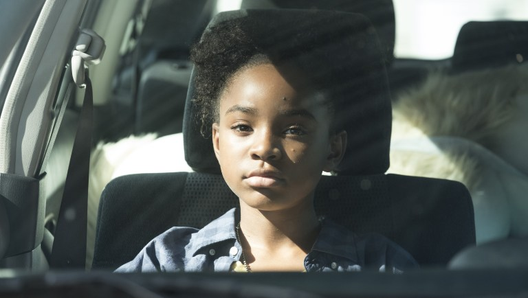Saniyya Sidney as Amy Bellafonte in 'The Passage'. (Source: FOX)