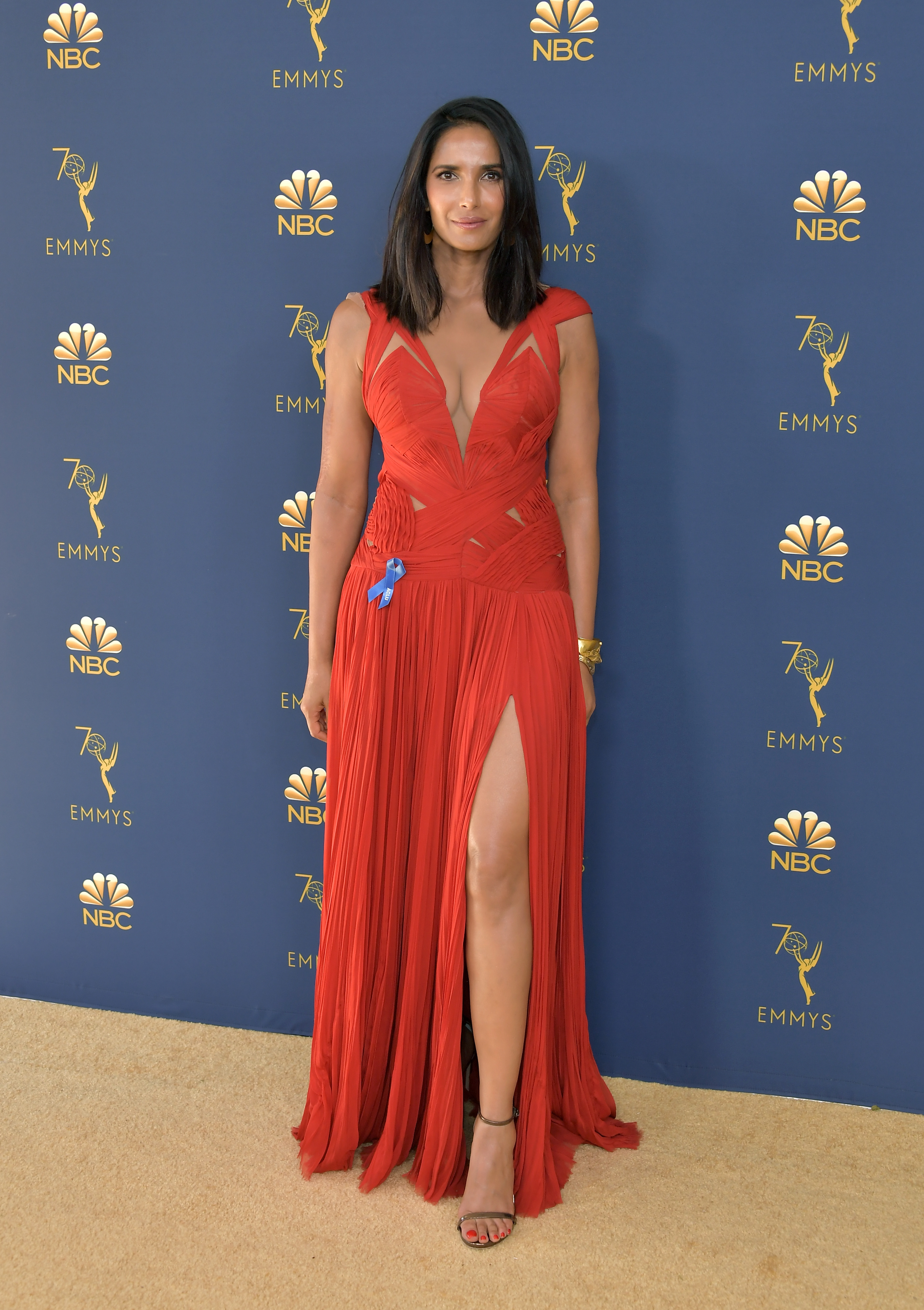Padma Lakshmi attends the 70th Emmy Awards at Microsoft Theater on September 17, 2018 in Los Angeles, California.