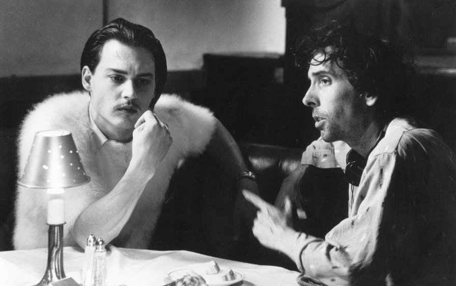 Johnny Depp and Tim Burton on the sets of 'Ed Wood' (1994). (Image Source: Twitter)