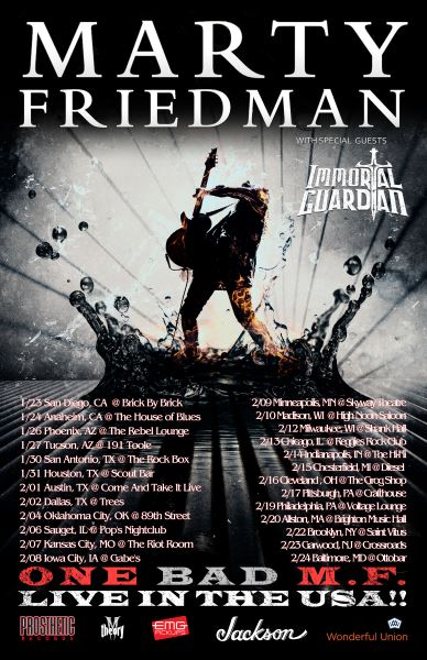 Marty Friedman tour dates
