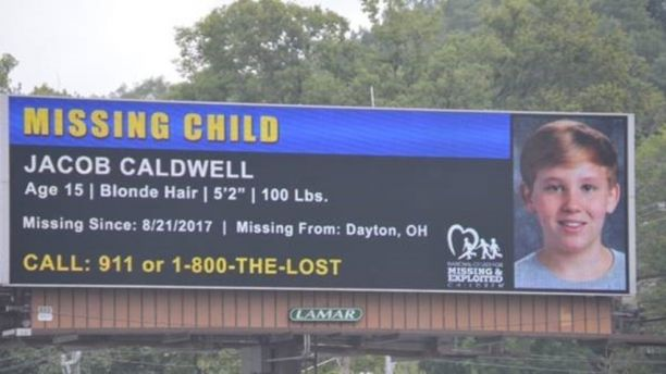 Billboards were installed along the interstate with his information (Source: National Center for Missing and Exploited Children)