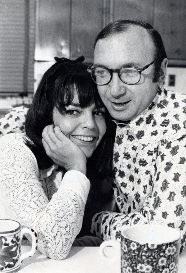 Neil Simon and his wife Joan Baim photographed at home in 1971. (Getty Images)