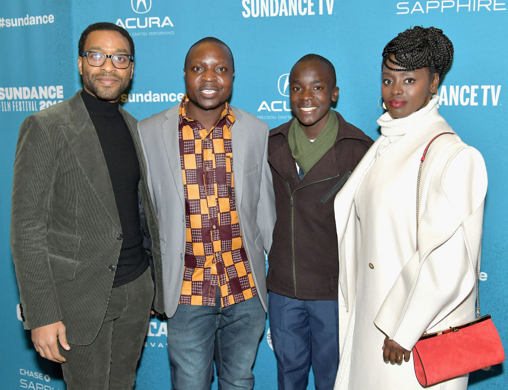 Chiwetel Ejiofor, William Kamkwamba, Maxwell Simba and Aissa Maiga at Salt Lake Opening Night Screening Of 'The Boy Who Harnessed The Wind' in Utah. (Source: Getty Images)