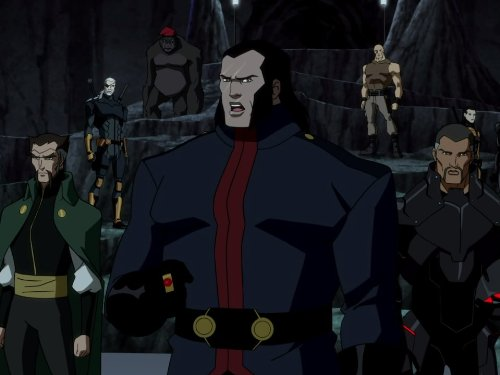 Vandal Savage with members of The Light in 'Young Justice'. (Source: IMDB)