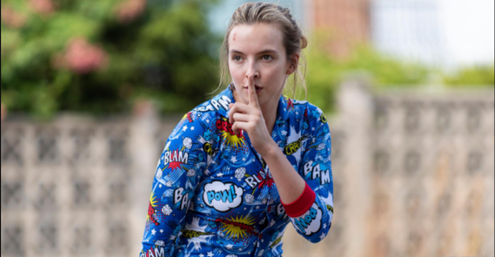 That Villanelle's stylish aesthetic goes for a total toss in season 2 of 'Killing Eve' has already been established, as previous trailers have shown her clad in bright red and blue pajamas, something quite unlikely of her. Source: BBC America.