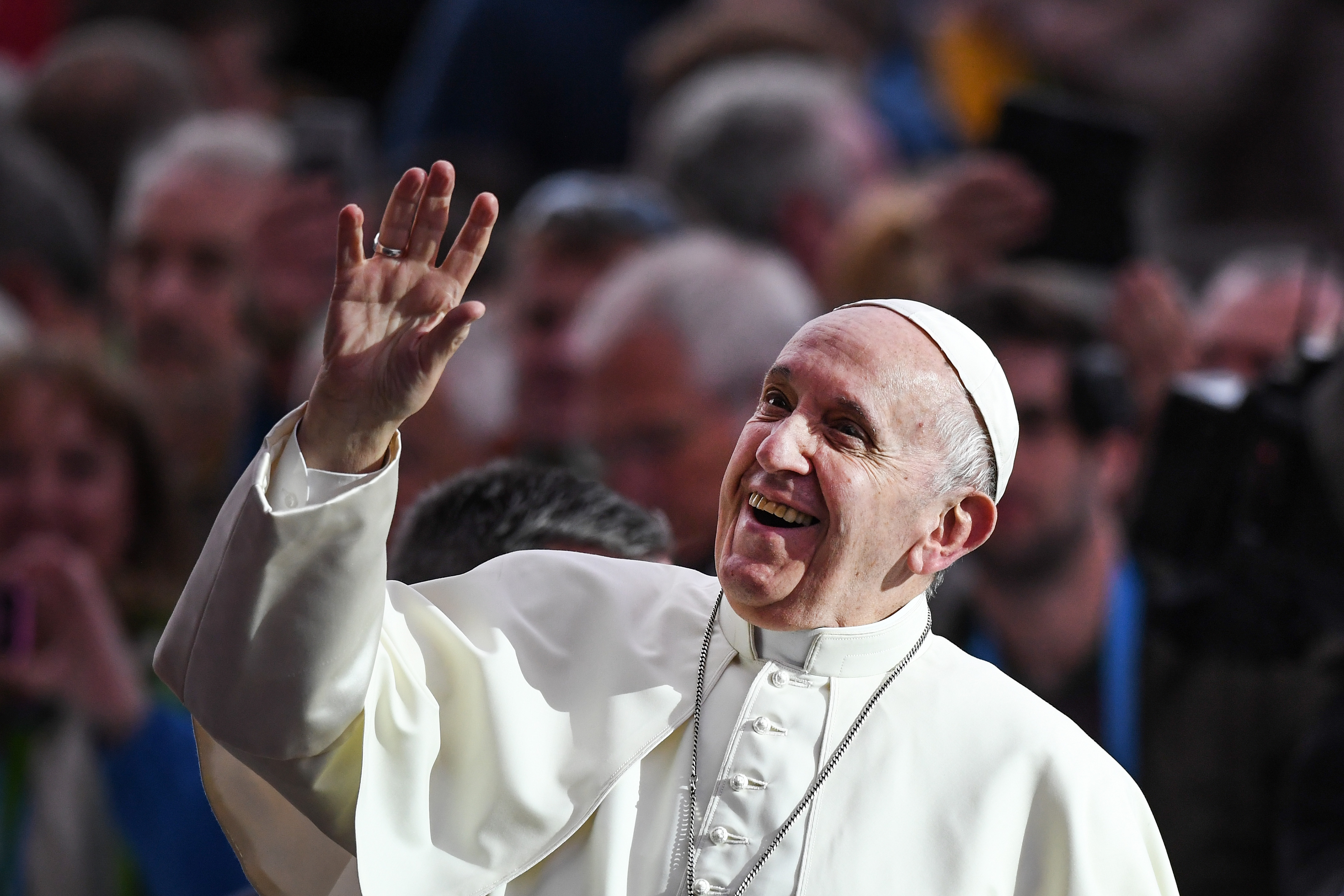 Pope Francis attends the festival of families at Croke Park on August 25, 2018, in Dublin, Ireland. Pope Francis is the 266th Catholic Pope and current sovereign of the Vatican. (Getty Images)