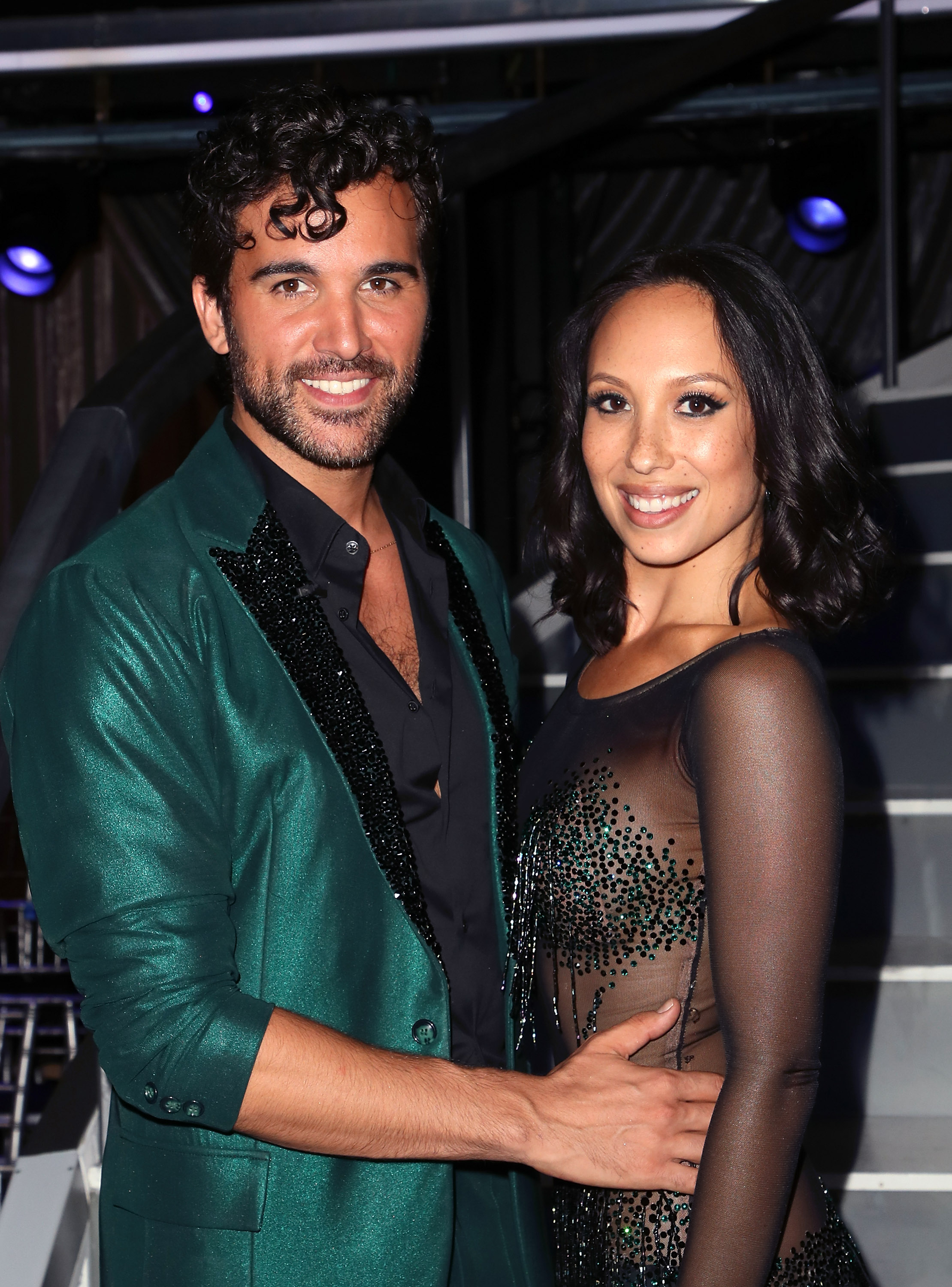 Juan Pablo Di Pace (L) and Cheryl Burke pose at 'Dancing with the Stars' Season 27 at CBS Televison City on September 24, 2018 in Los Angeles, California.
