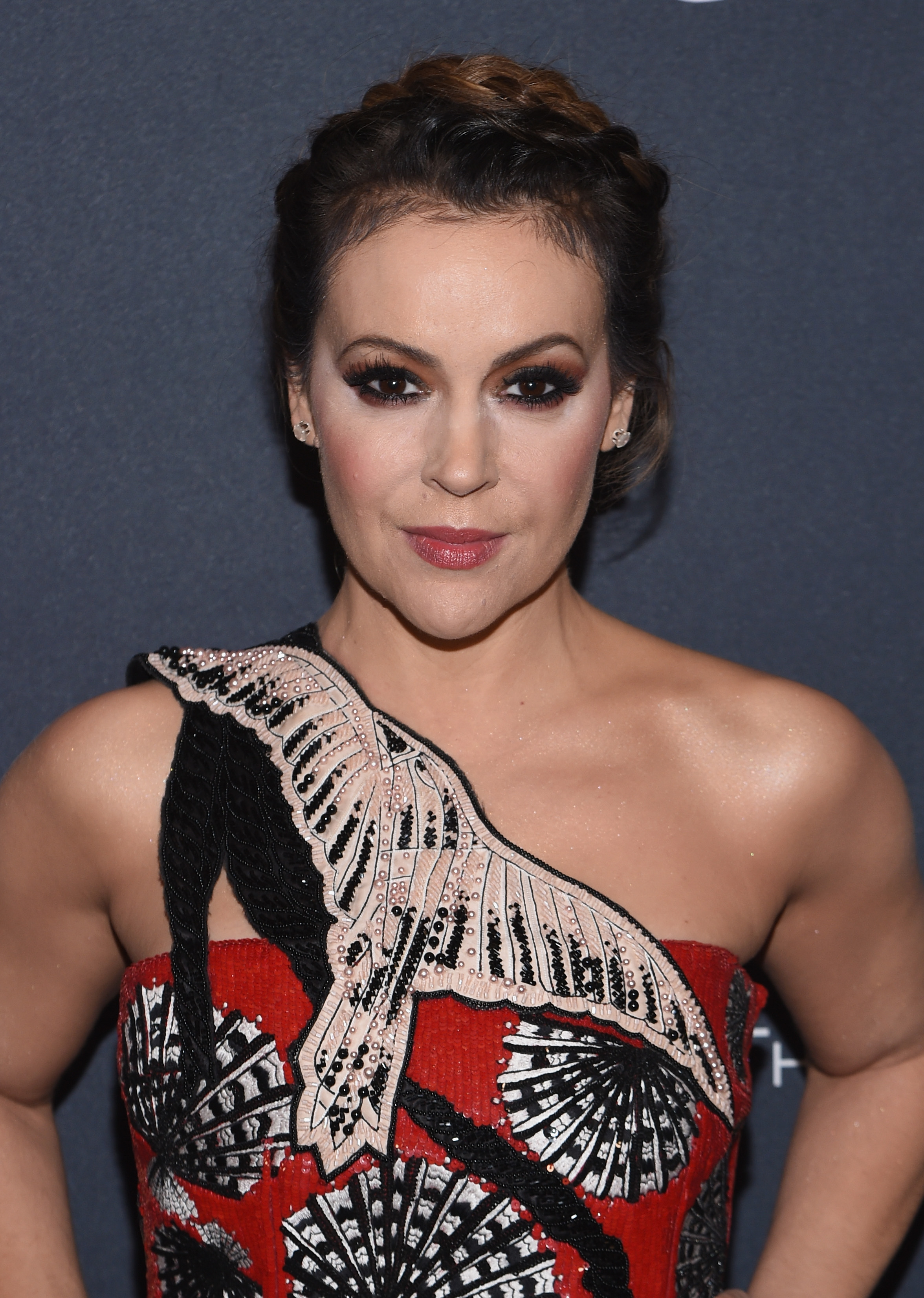 Actress Alyssa Milano attends The Weinstein Company's Pre-Oscar Dinner in partnership with Bvlgari and Grey Goose at Montage Beverly Hills on February 25, 2017, in Beverly Hills, California (Getty Images)