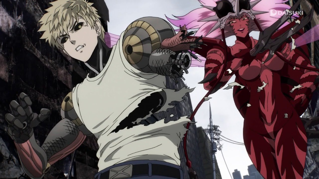Genos, losing again in 'One-Punch Man'. (Source: IMDB)