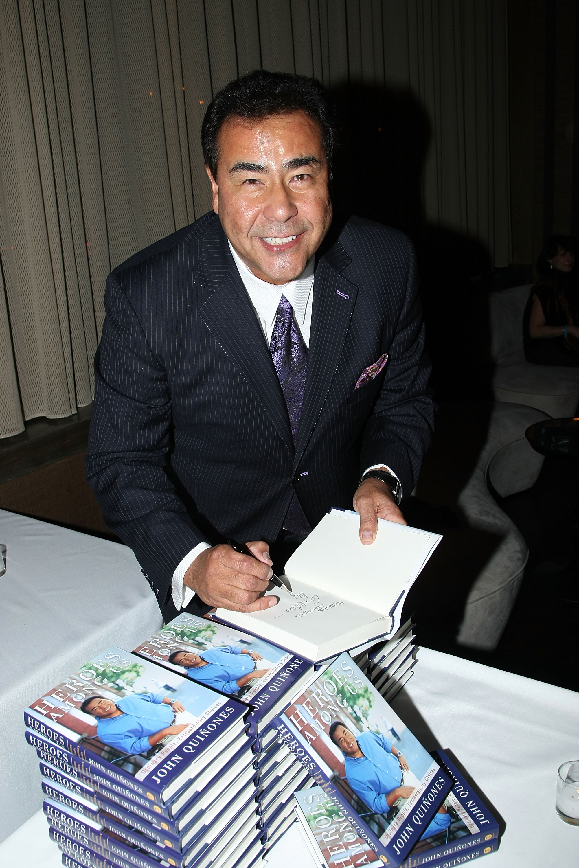 Author John Quinones attends the 'Heroes Among Us' book release party at the Tribeca Grand Hotel on January 9, 2009, in New York City (Getty Images)