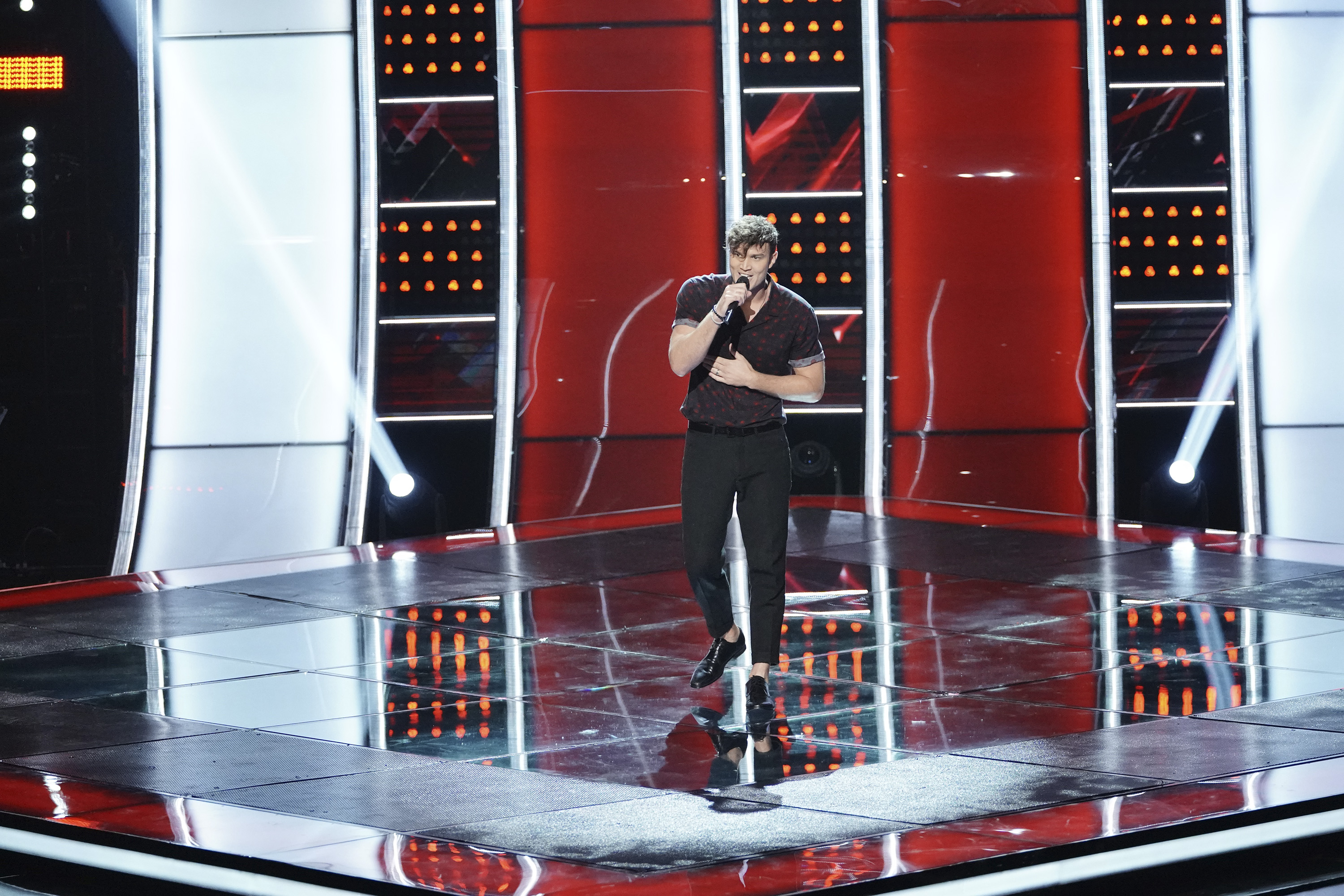 "THE VOICE -- ""Blind Auditions"" Episode 1505 -- Pictured: Jarred Matthew -- (Photo by: Tyler Golden/NBC)"