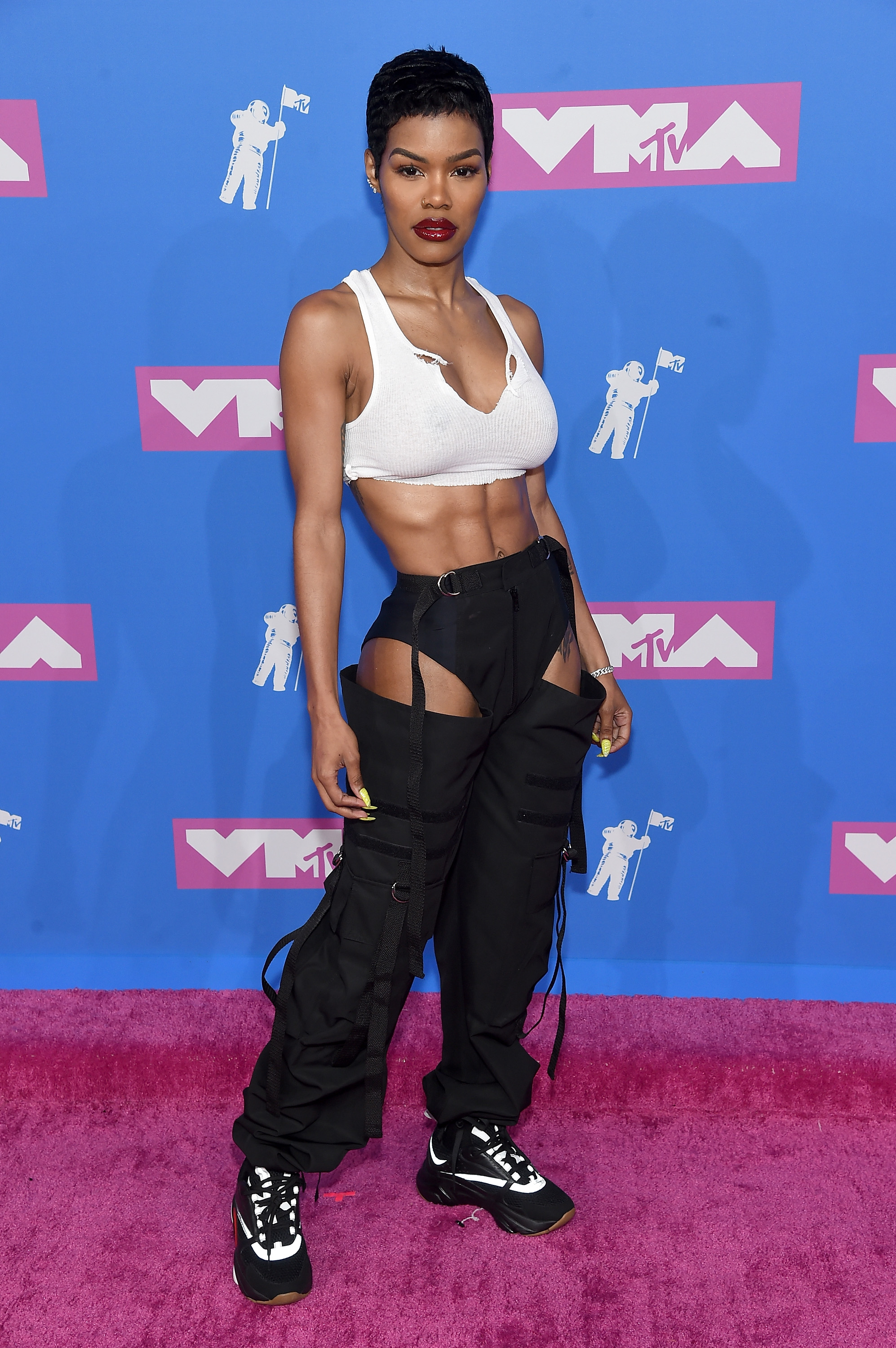 Teyana Taylor attends the 2018 MTV Video Music Awards at Radio City Music Hall on August 20, 2018 in New York City.