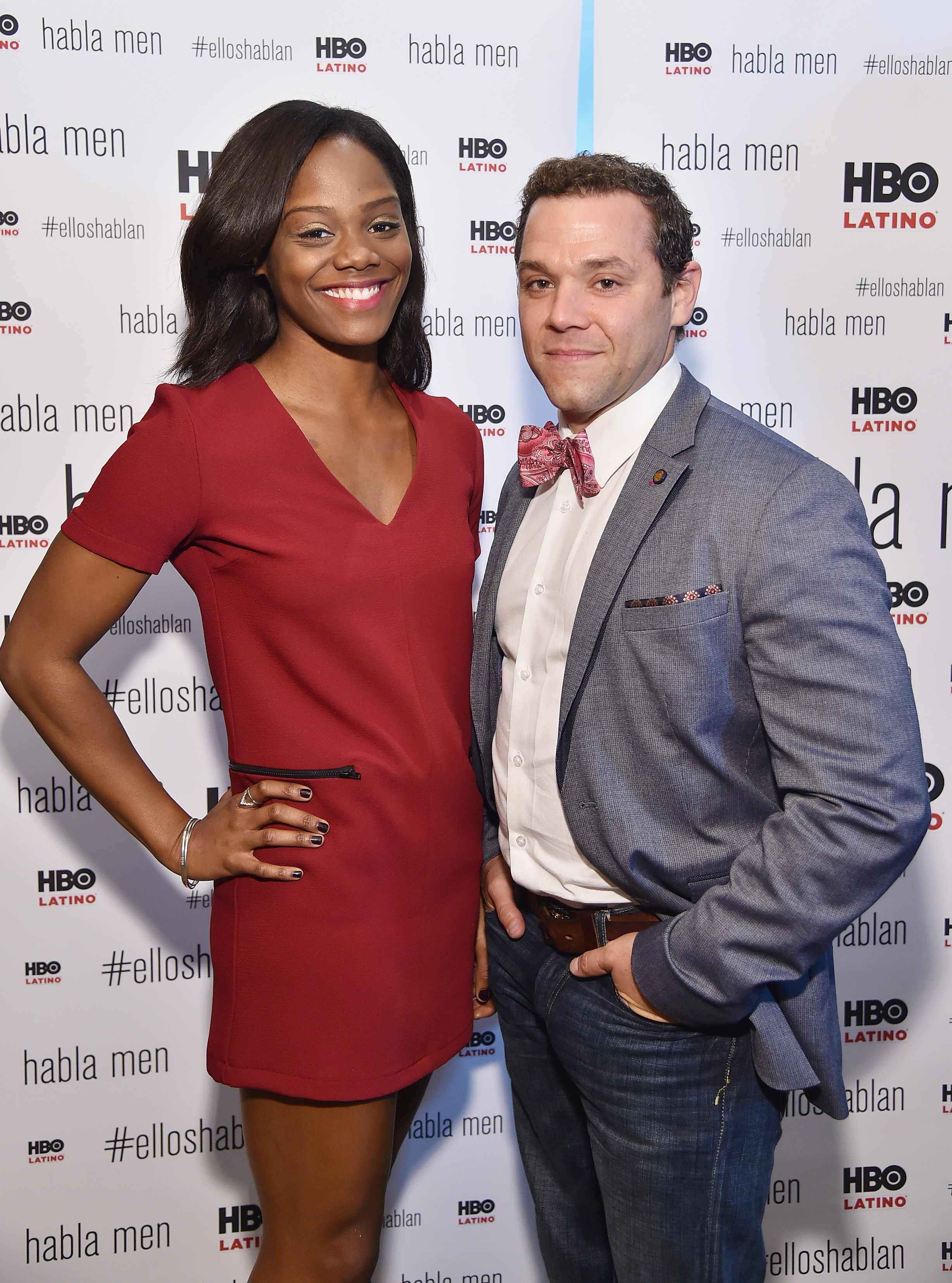 Afton Williamson (L) and Joshua Bitton attend 'Habla Men' Breakfast And Screening at HBO Theater on October 1, 2014, in New York City. (Getty Images)